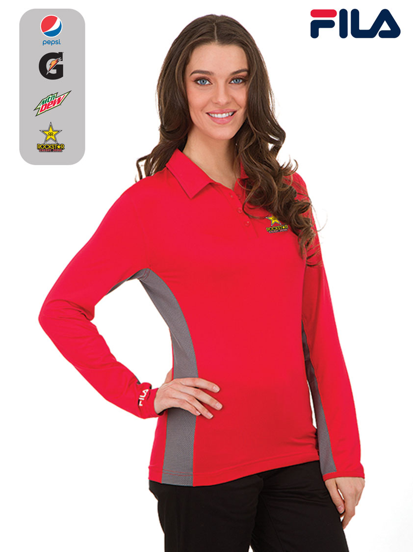FILA Women's Newport Long Sleeve Polo