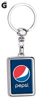 Two Sided Chrome Plated Domed Keychain