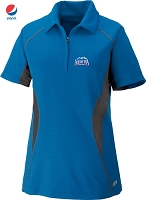 Ladies' Cool Logic Performance Zippered Polo - Olympic Blue