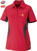 Ladies' Cool Logic Performance Zippered Polo - Olympic Red