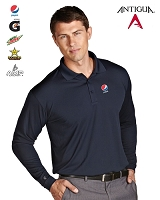 Antigua Golf Men's Exceed Long Sleeve Polo