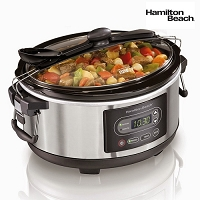 Hamilton Beach 5 Qt. Programmable Stay or Go Slow Cooker