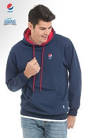 Two Tone Hooded Sweater - Navy