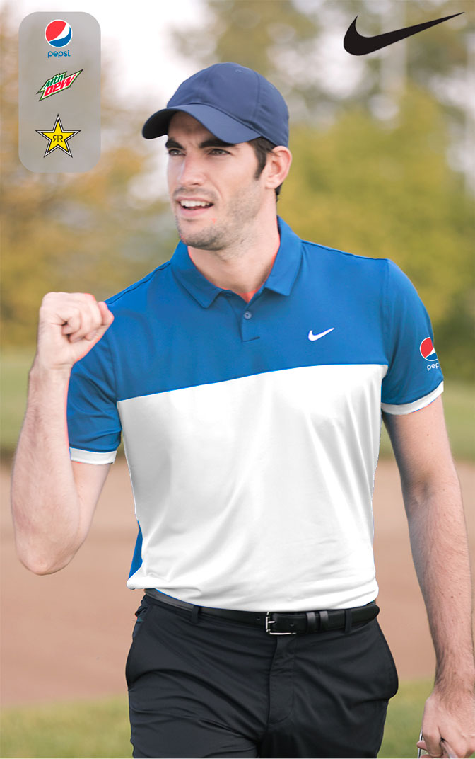 Nike icon colour block polo