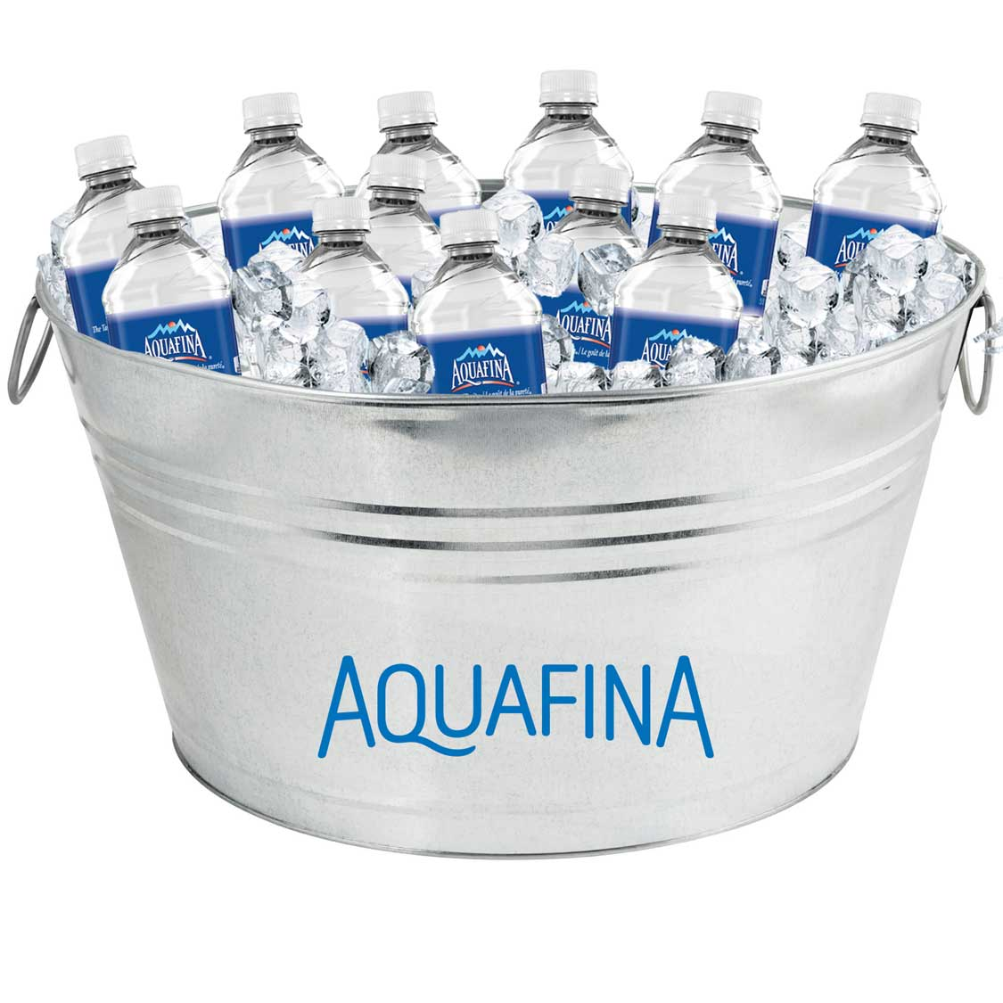 Oval Galvanized Metal Tub - Aquafina