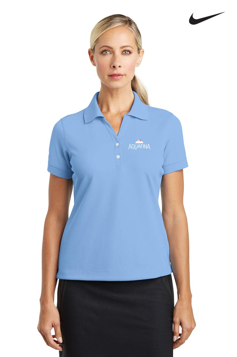 Nike golf ladies dri fit classic polo for Name brand golf shirts