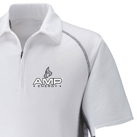 Men's Cool Logic Performance Zippered Polo - Amp Energy