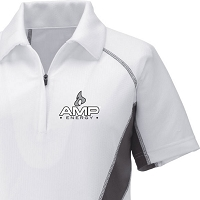 Ladies' Cool Logic Performance Zippered Polo - Amp Energy
