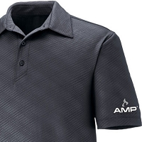 Men's Performance Stretch Embossed Print Polo - Amp Energy