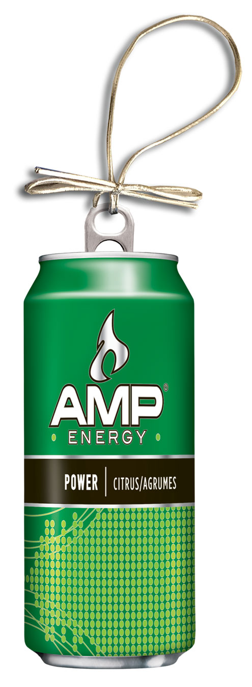 Amp Energy Holiday Can Ornament