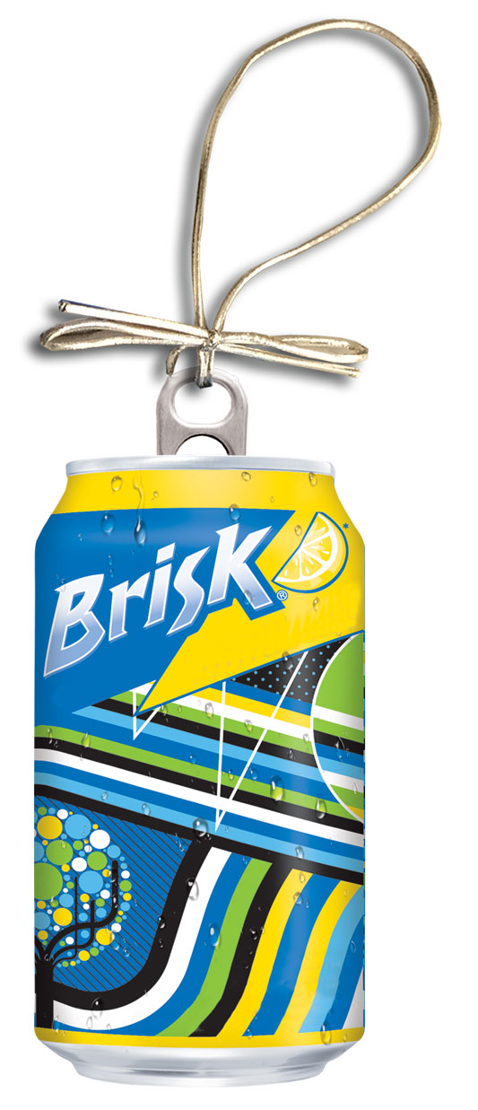 Brisk Holiday Can Ornament