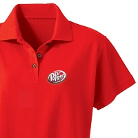Ladies' Desert Sands Golf Shirt (Red) - Dr. Pepper
