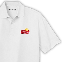 Deluxe Dri Fit Polo (White) - Frito Lay