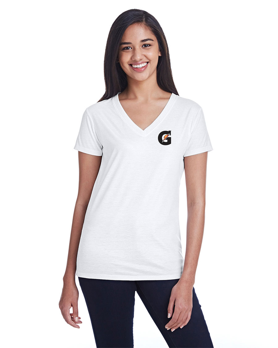 Ladies' Liquid Jersey V-Neck T-Shirt - Gatorade