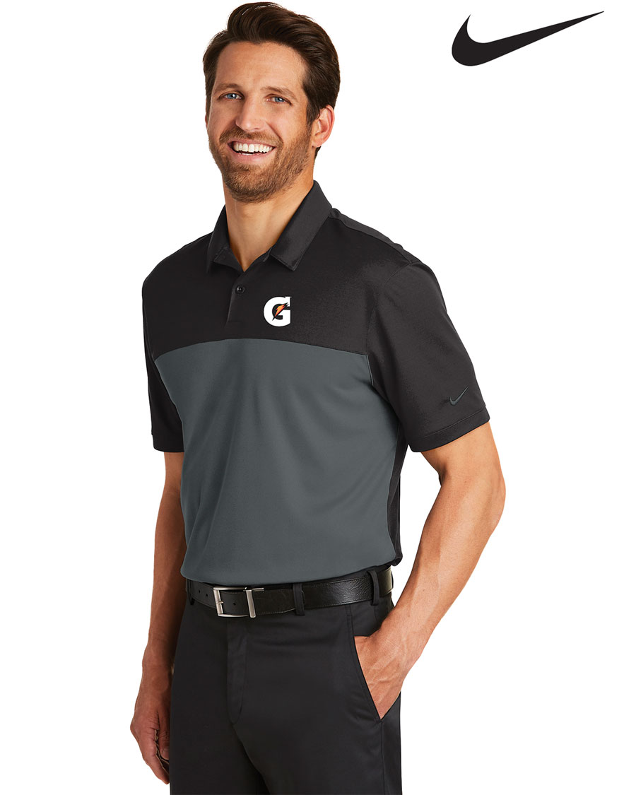 Nike Men's Golf Dri-FIT Colorblock Micro Pique Polo - Gatorade