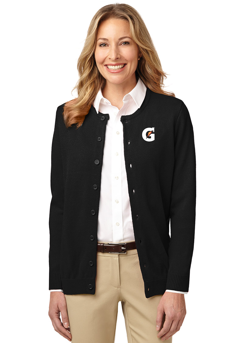 Ladies' Value Jewel-Neck Cardigan Sweater - Gatorade