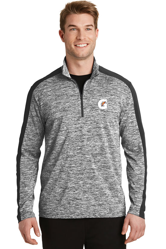 Men's PosiCharge® Electric Heather Colorblock 1/4-Zip Pullover - Gatorade