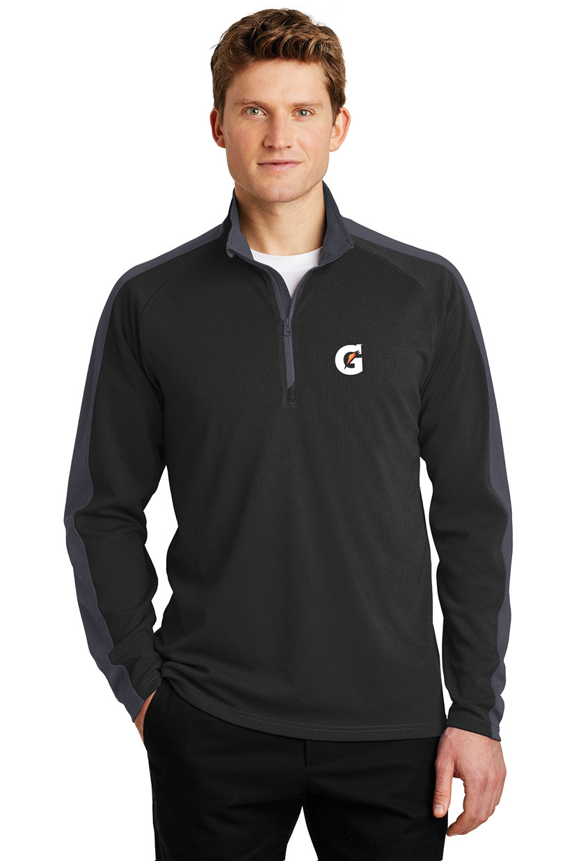 Men's Sport-Wick® Textured Colorblock 1/4-Zip Pullover - Gatorade