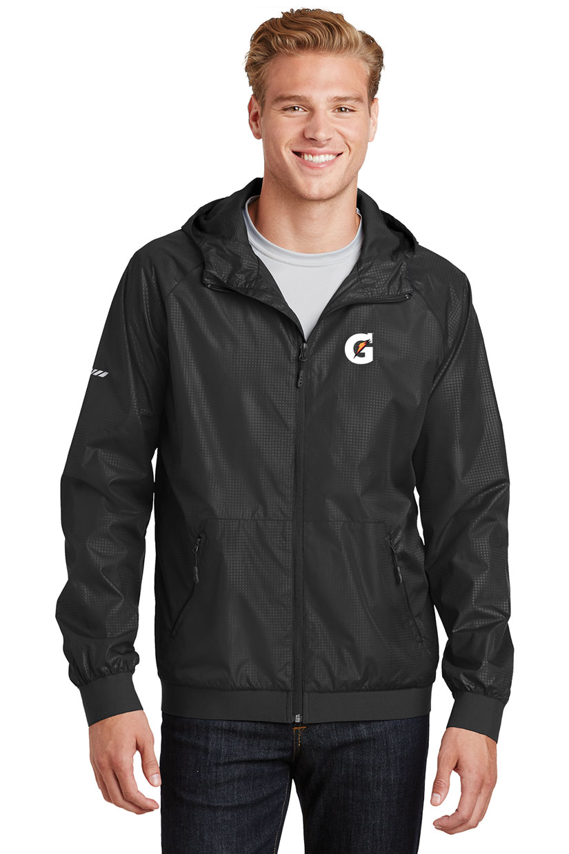 Men's Embossed Hooded Wind Jacket - Gatorade