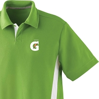 Men's Polyester Pique Polo With Stripe - Gatorade