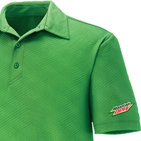 Men's Performance Stretch Embossed Print Polo - Cdn Version Mountain Dew