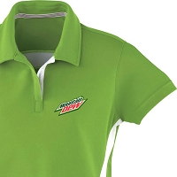 Ladies' Polyester Pique Polo With Stripe - Cdn Version Mountain Dew