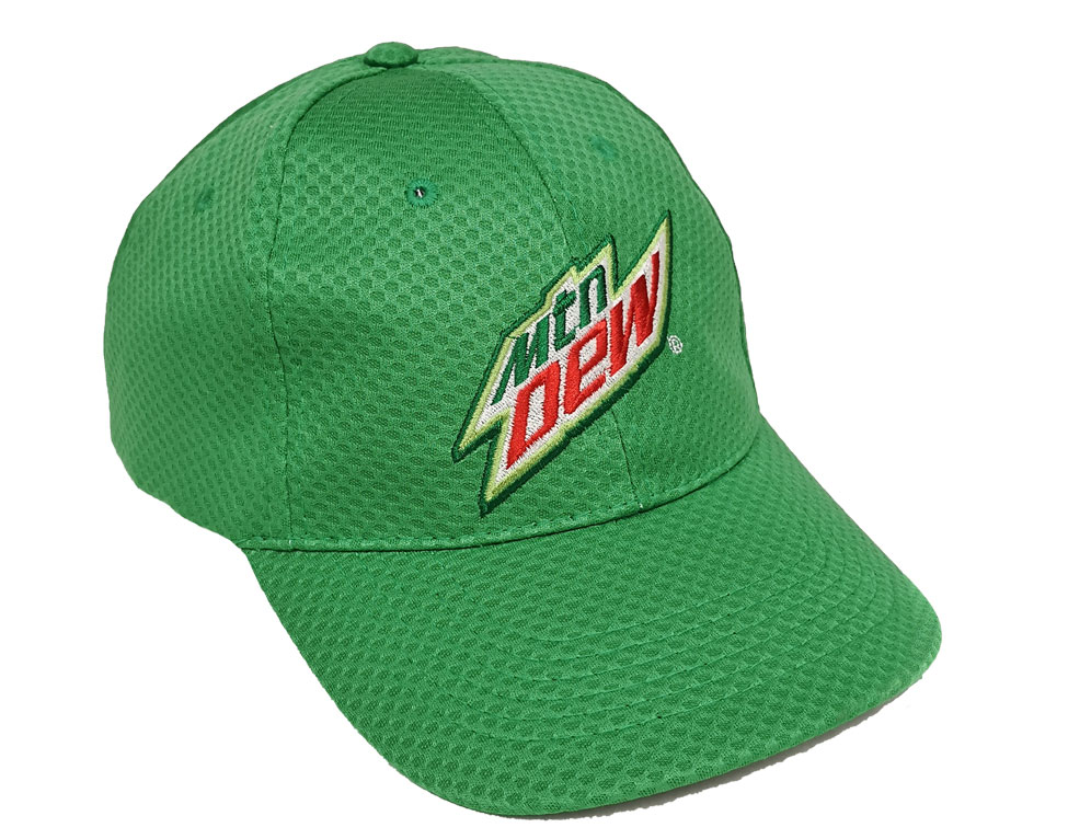 MTN Dew Diamond Pattern Dri Fit Cap - Green