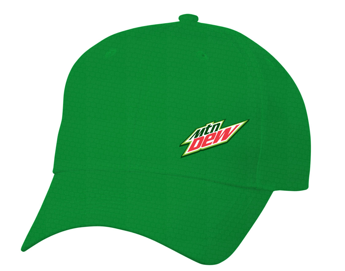 MTN Dew Diamond Pattern Dri Fit Cap (SM) - Green