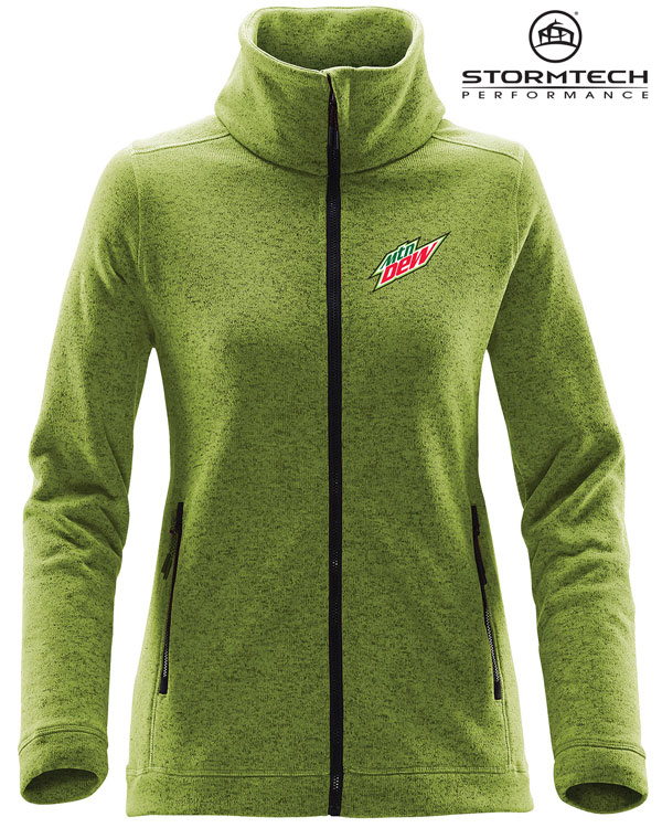 Women's Tundra Sweater Fleece Jacket - MTN Dew