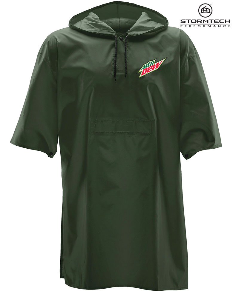 Torrent Snap Fit Poncho - MTN Dew