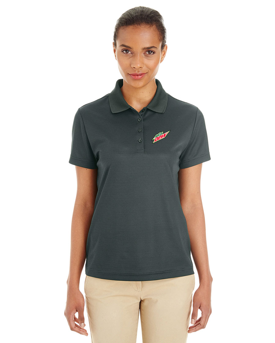 Ladies' Express Microstripe Performance Piqué Polo - MTN Dew