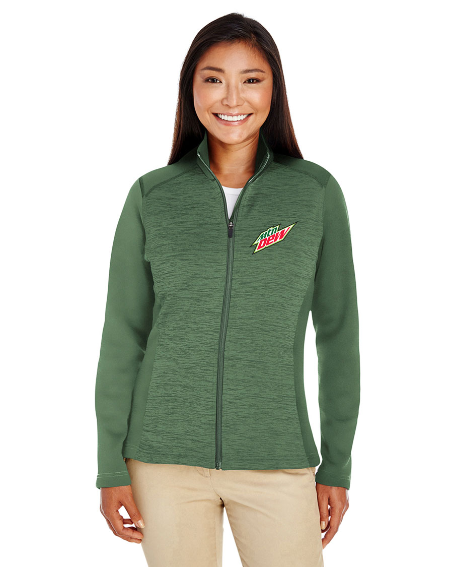 Ladies' Newbury Colorblock Mélange Fleece Full-Zip - MTN Dew