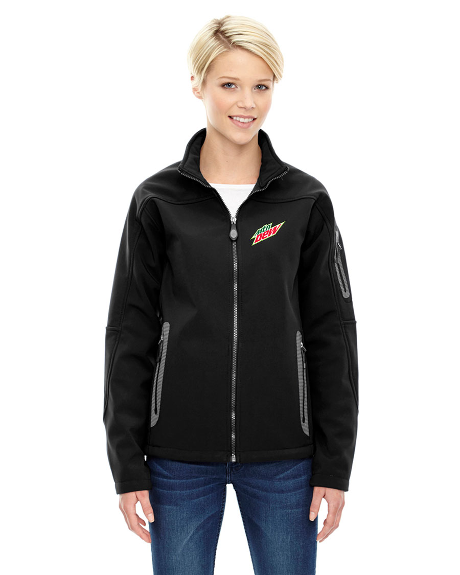 Ladies' Three-Layer Fleece Bonded Soft Shell Technical Jacket - MTN Dew