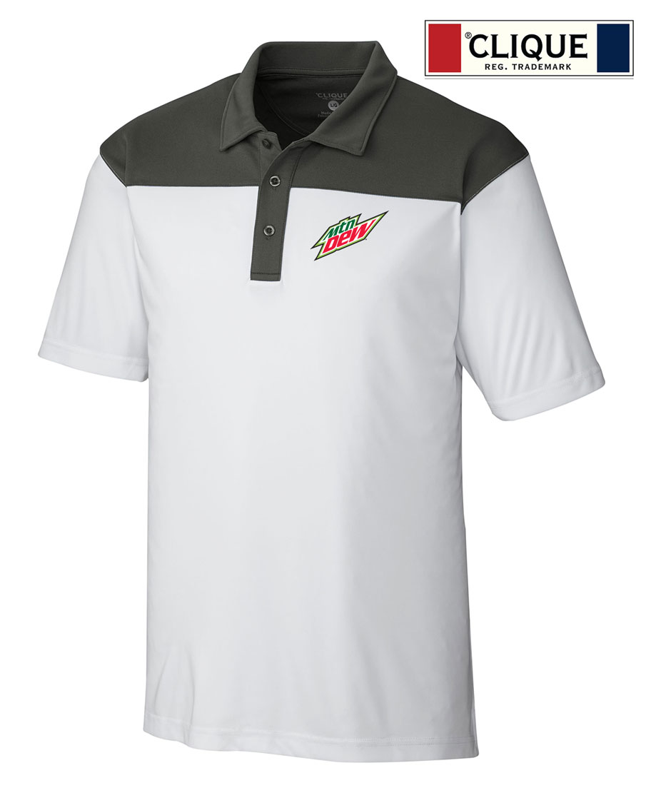 Clique Men's Parma Colorblock Polo - MTN Dew