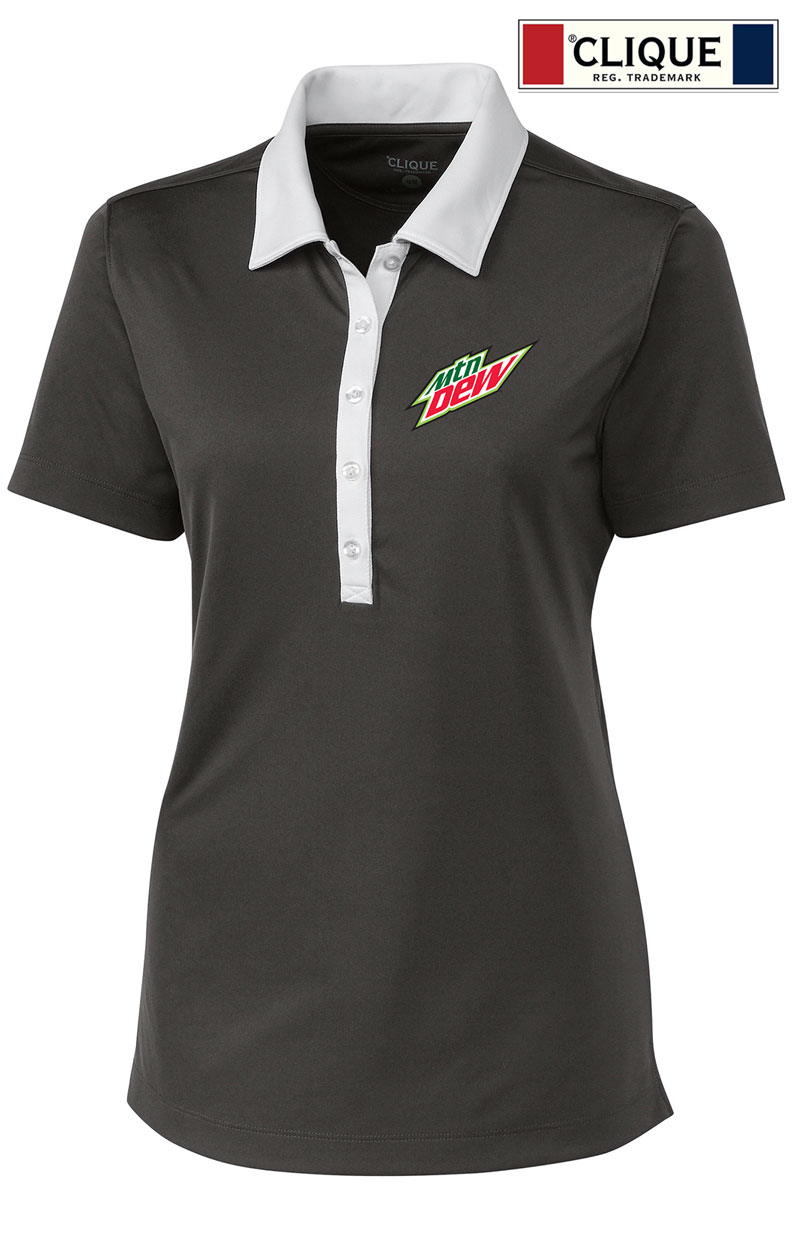 Clique Ladies' Parma Colorblock Lady Polo - MTN Dew