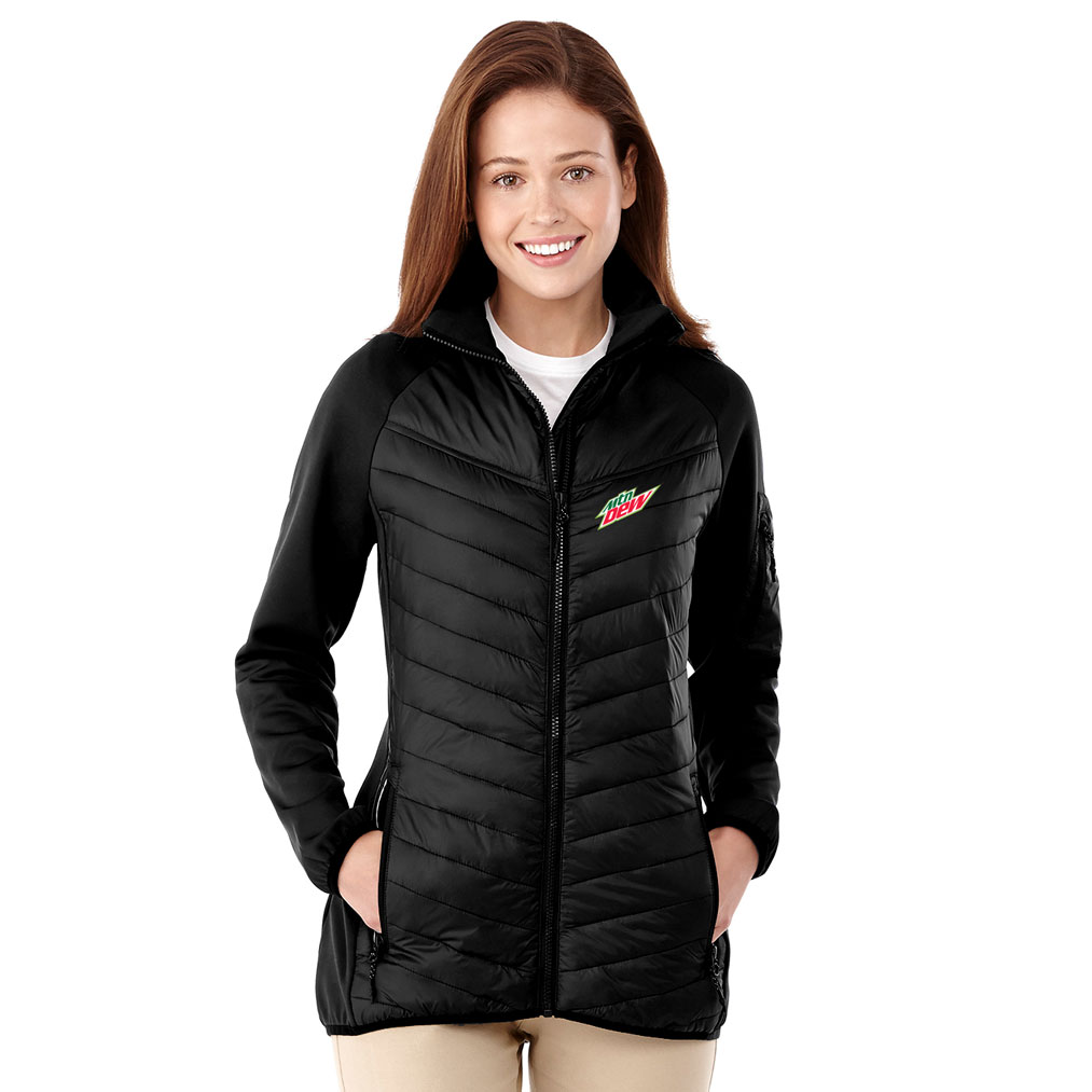 Ladies Banff Hybrid Insulated Jacket - MTN Dew