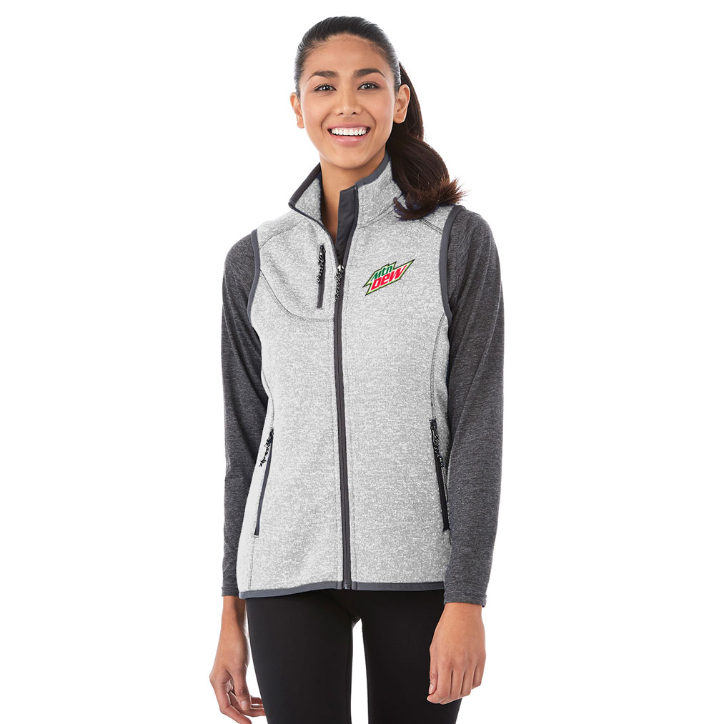Ladies Fontaine Knit Vest - MTN Dew