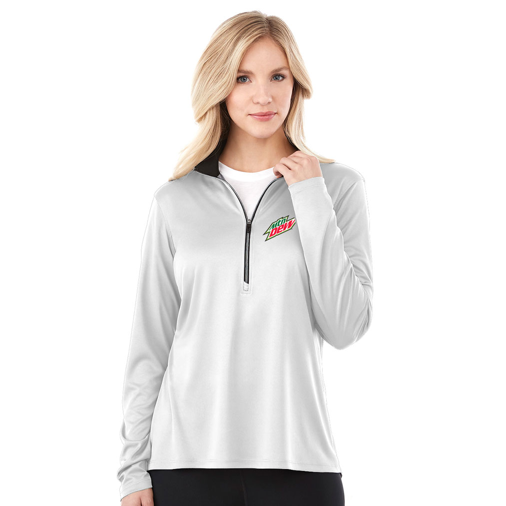 Ladies Vega Tech Half Zip - MTN Dew
