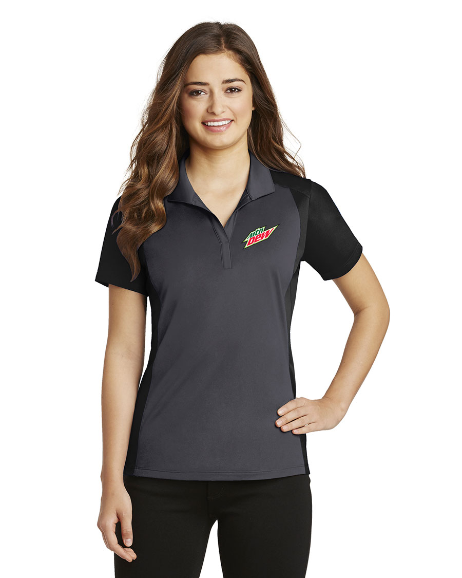 Ladies Colorblock Micropique Sport-Wick® Polo - MTN Dew