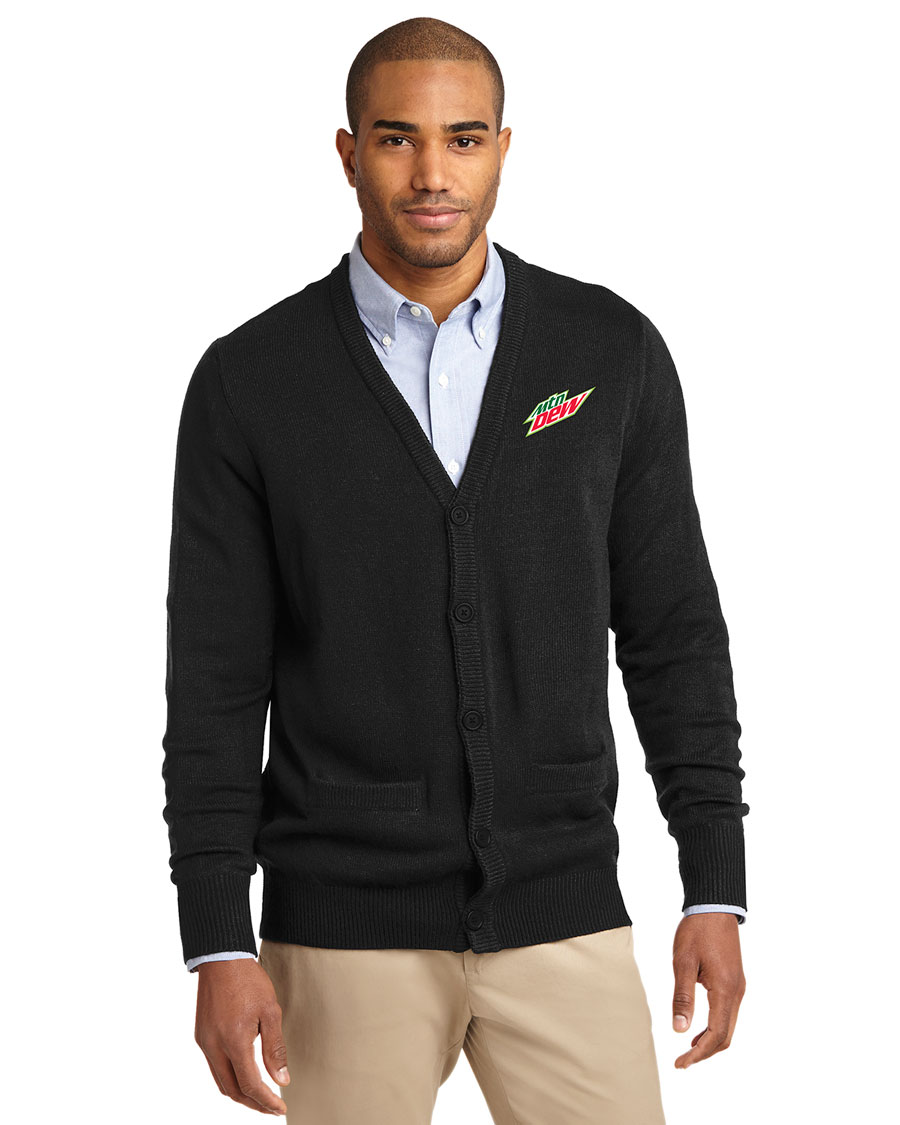 Men's Value V-Neck Cardigan Sweater with Pockets - MTN Dew