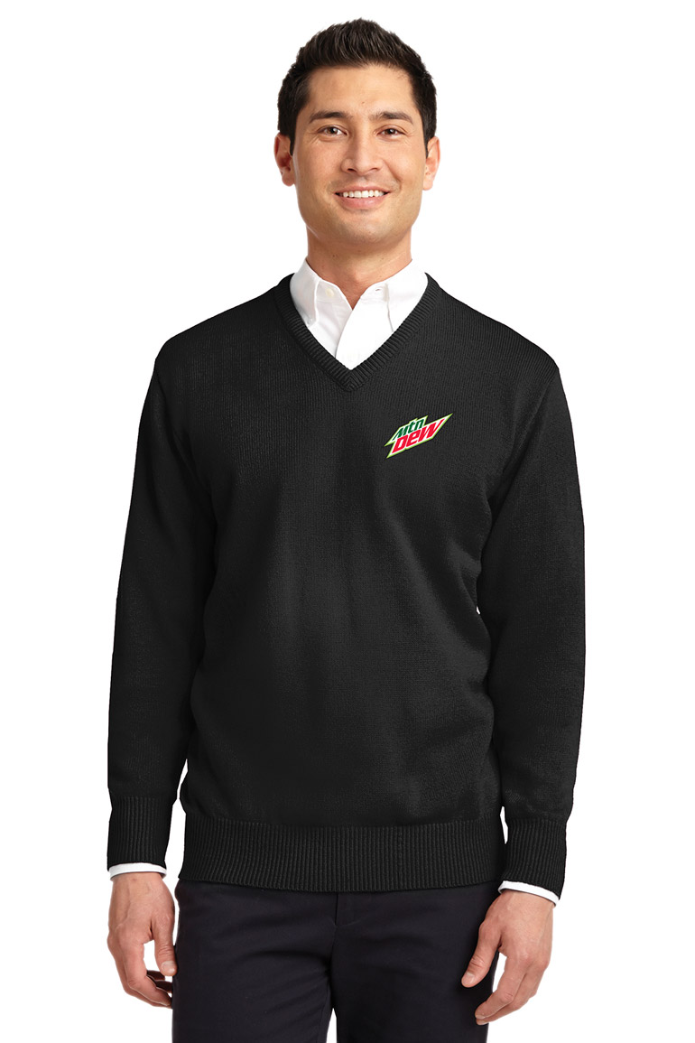Men's  Value V-Neck Sweater - MTN Dew