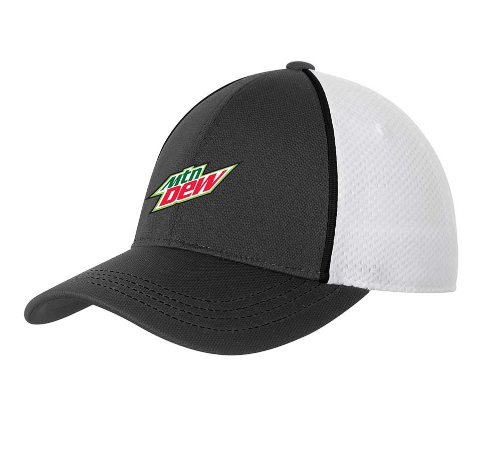 Piped Mesh Back Cap - MTN Dew