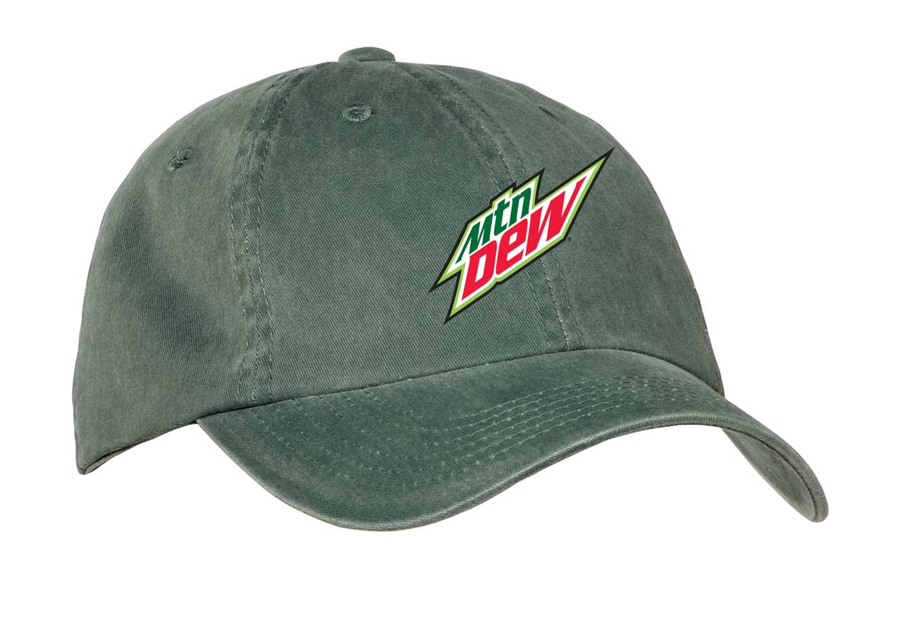 Garment Washed Cap - MTN Dew