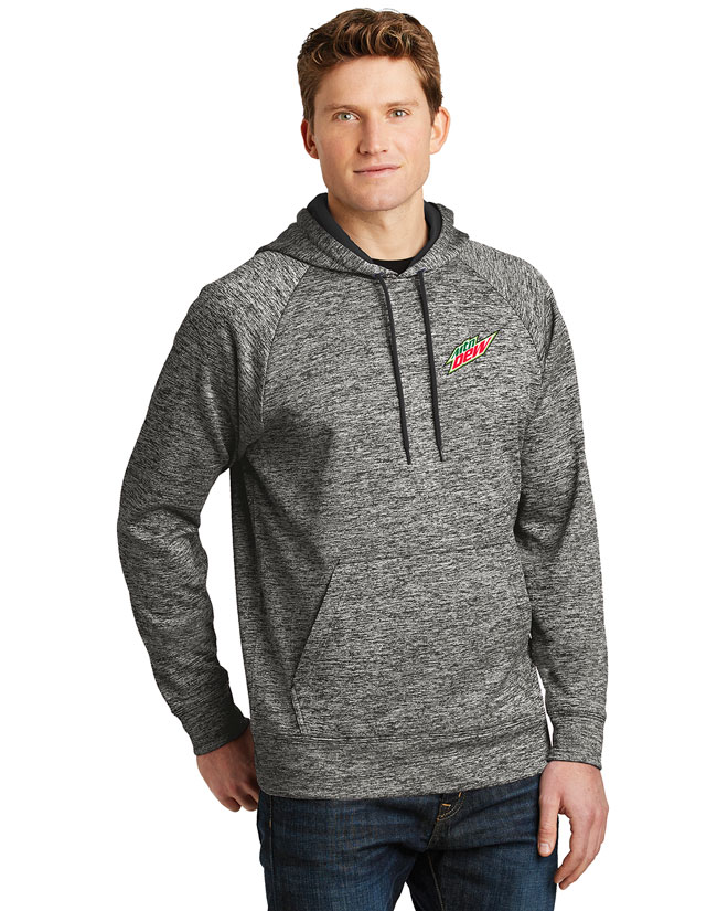 Men's PosiCharge® Electric Heather Fleece Hooded Pullover - MTN Dew