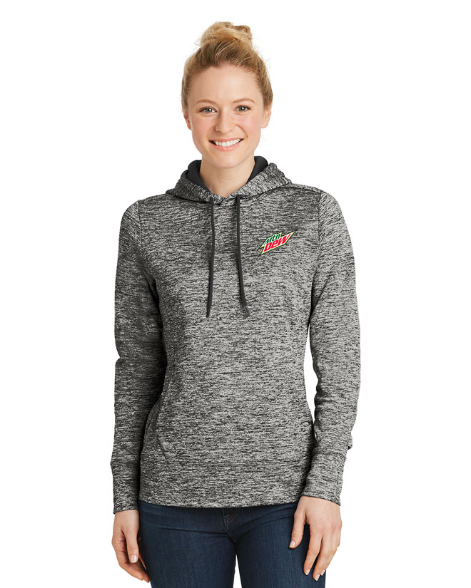 Ladies' PosiCharge® Electric Heather Fleece Hooded Pullover - MTN Dew