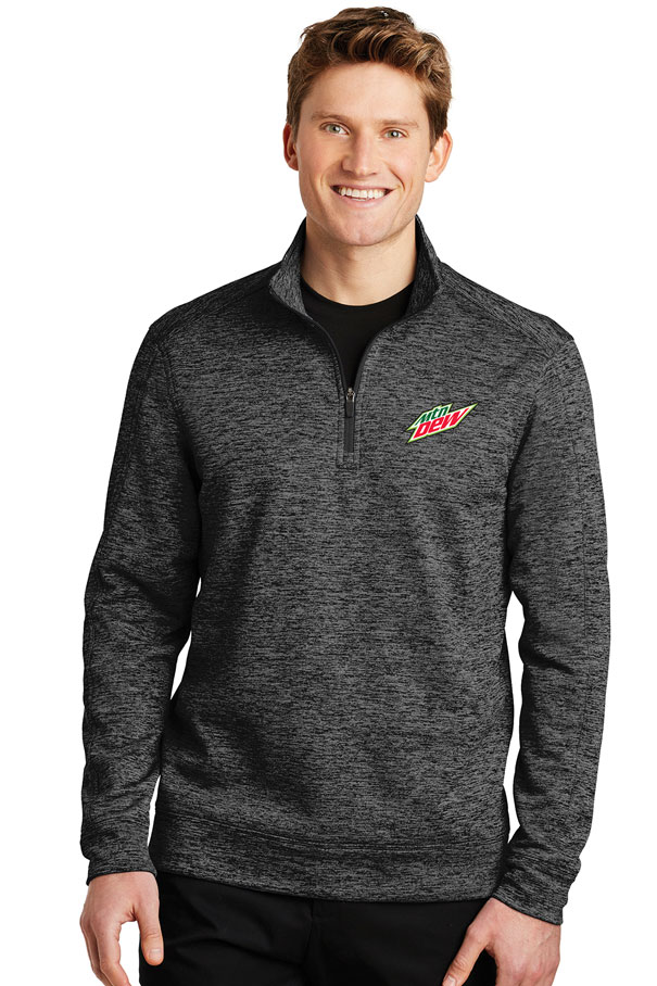 Men's PosiCharge® Electric Heather Fleece 1/4-Zip Pullover - MTN Dew