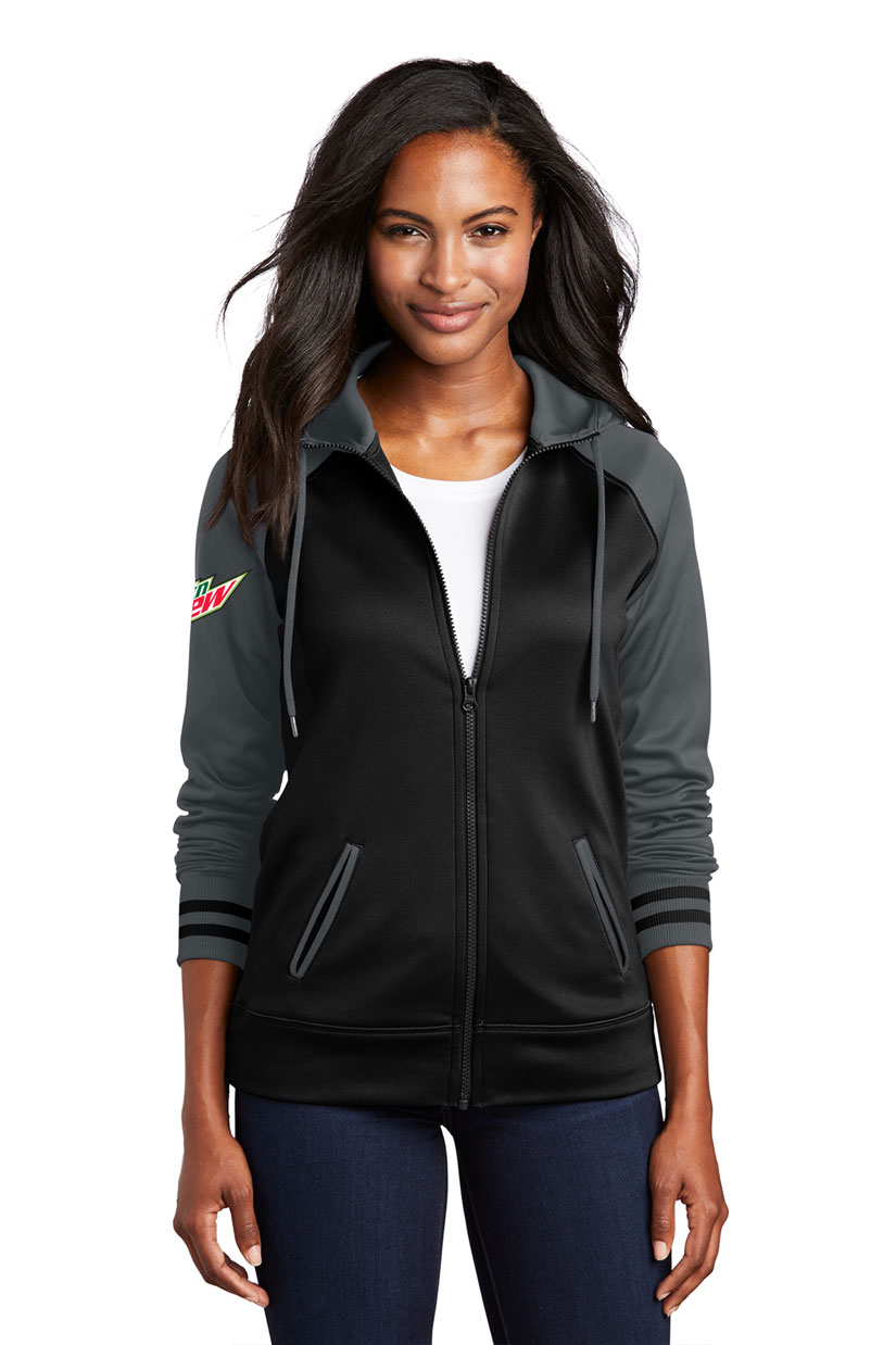 Ladies Sport-Wick® Varsity Fleece Full-Zip Hooded Jacket - MTN Dew