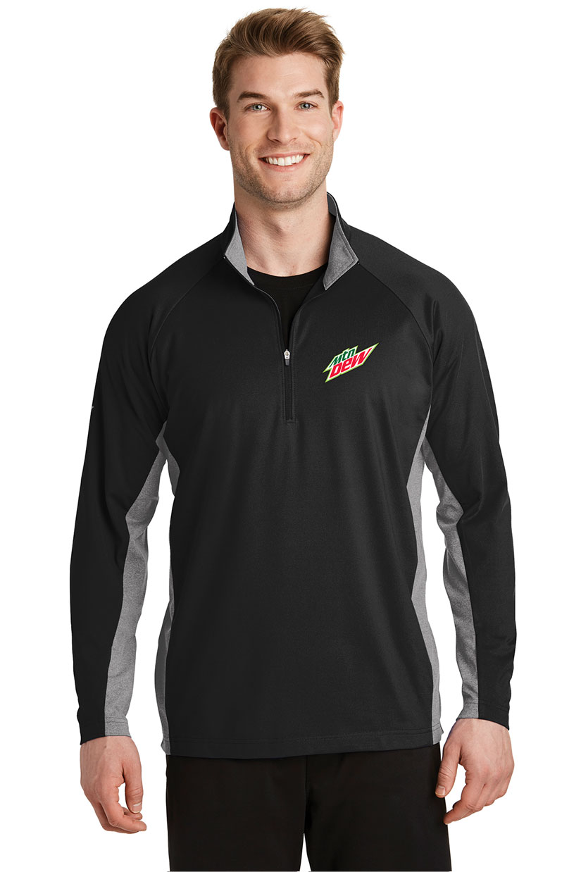 Men's Sport-Wick® Stretch Contrast 1/2-Zip Pullover - MTN Dew