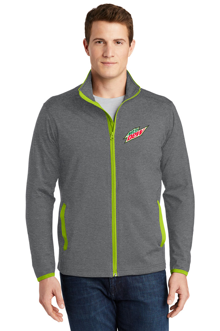 Men's Sport-Wick® Stretch Contrast Full-Zip Jacket - MTN Dew