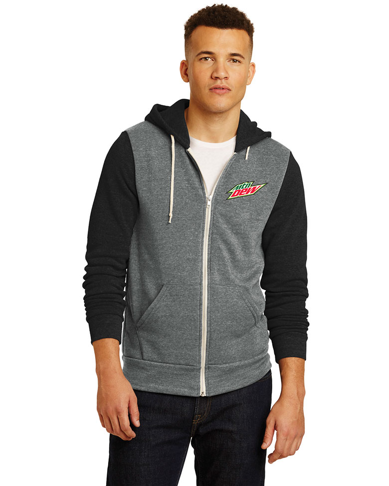 Men's Alternative Colorblock Rocky Eco™-Fleece Zip Hoodie - MTN Dew